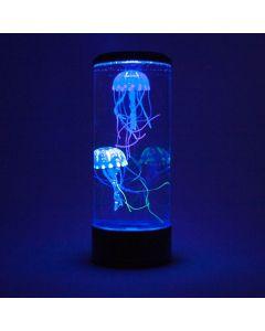 Aquarium - rond met kwallen - zwart