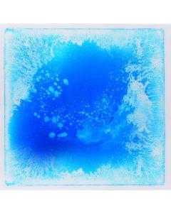 Snoezel vloertegel - blauw met witte vloeistof, 50x50 cm, set van 6