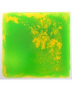 Snoezel vloertegel - groen met gele vloeistof, 50x50 cm, set van 6